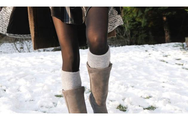 Какие колготы носить зимой?