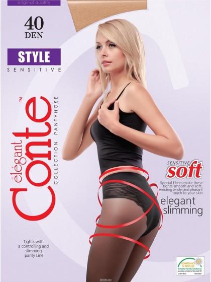 Conte Style 40 Den женские корректирующие колготки с трусиками-бикини