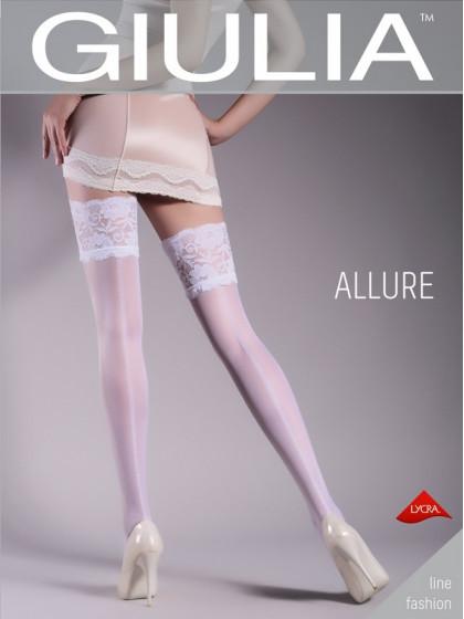 Giulia Allure 20 Den Model 14 женские фантазийные чулки с рисунком в виде шва