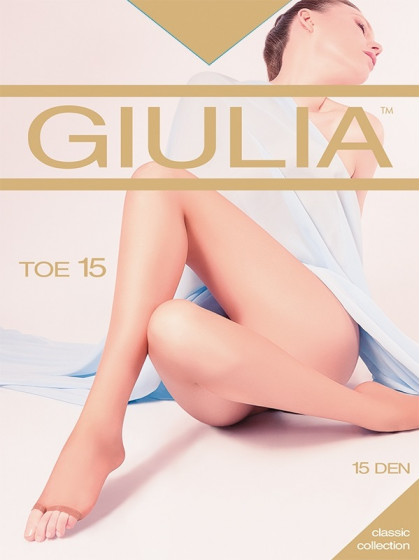 Giulia Toe 15 Den тончайшие колготки с открытыми пальцами