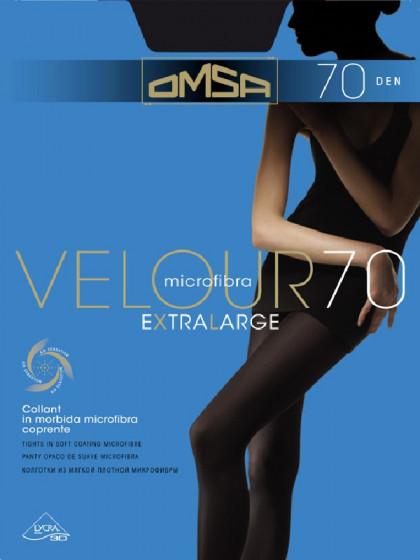 Omsa Velour 70 Den XL колготки из микрофибры большого размера