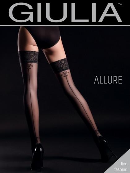 Giulia Allure 20 Den Model 4 фантазийные женские чулки со швом сзади