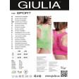 Giulia Top Sport спортивный женский топ на широких бретелях