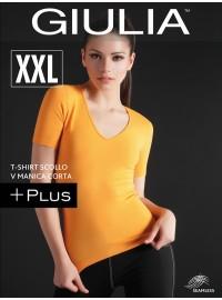 Giulia T-Shirt Scollo V Manica Corta Plus