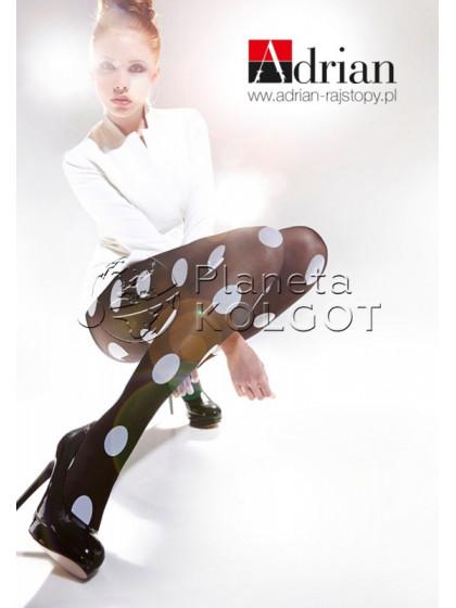 """Adrian Spots 40 Den женские фантазийные колготки с узором """"в крупную точку"""""""
