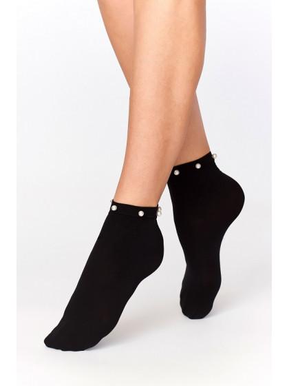Annes WZ-4 капроновые носочки из микрофибры с бусинками-жемчужинами