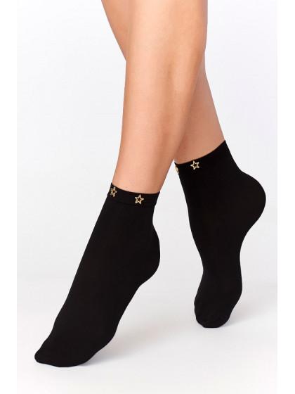 Annes WZ-5 женские носки из микрофибры с металлическими звездочками на резинке
