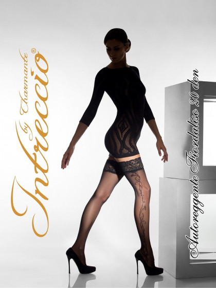 INTRECCIO by CHARMANTE Fiordaliso 20 Den Aut. женские чулки с узором