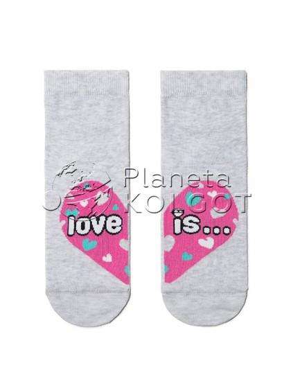 """Conte Kids Tip-Top 17С-10СП 279 детские высокие носки из хлопка с принтом """"Сердечко"""""""