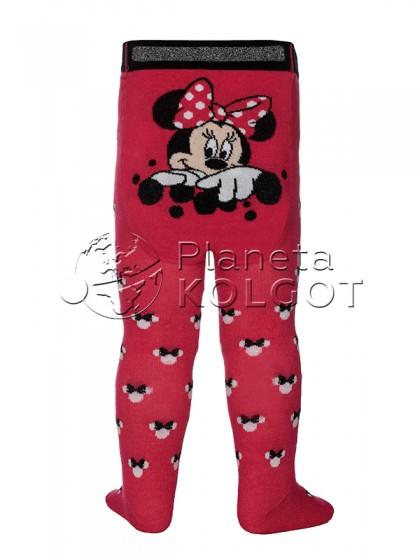 Conte Kids Disney 17С-130СПМ 455 теплые детские колготки для девочек с рисунком