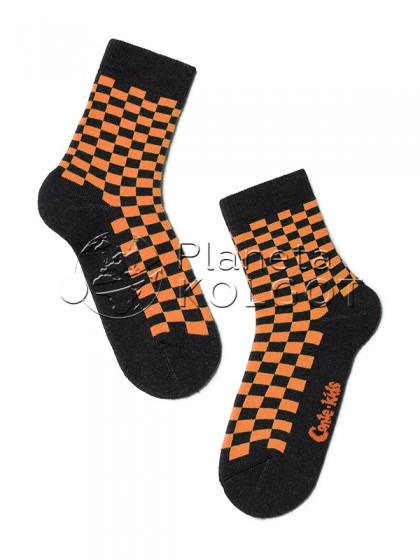 """Conte Kids SOF-TIKI 7С-46СП 226 детские махровые носки из хлопка с принтом """"в клеточку"""""""