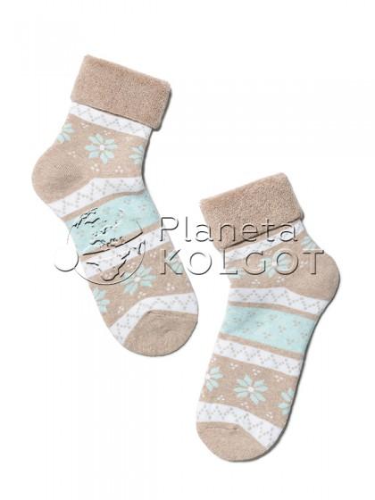 Conte Kids SOF-TIKI 6С-19СП 230 теплые детские махровые носки из хлопка с рисунком