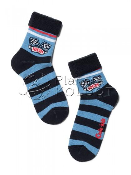 """Conte Kids SOF-TIKI 6С-19СП 231 детские теплые носки с принтом """"гоночные флаги"""""""