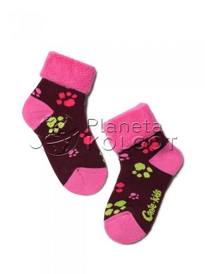 """Conte Kids SOF-TIKI 6С-19СП 244 детские носки для девочек и мальчиков с принтом """"лапки"""""""