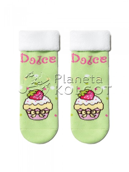 """Conte Kids SOF-TIKI 6С-19СП 245 детские махровые хлопковые носки для девочек и мальчиков с принтом """"Кексик"""""""