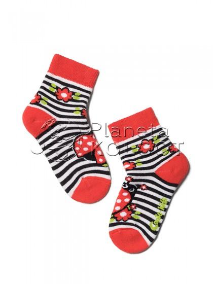 """Conte Kids SOF-TIKI 7С-46СП 246 детские теплые носочки из хлопка с принтом """"Божья Коровка"""""""