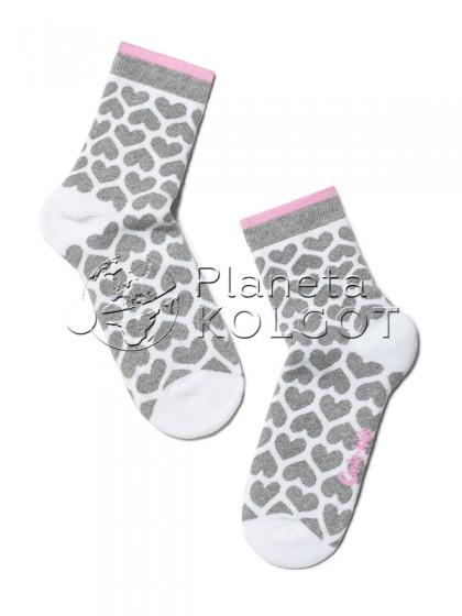 """Conte Kids SOF-TIKI 7С-46СП 247 детские махровые теплые носки для мальчиков и девочек с принтом """"сердечки"""""""