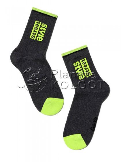 Conte Kids SOF-TIKI 7С-46СП 260 детские махровые носки из хлопка с принтом