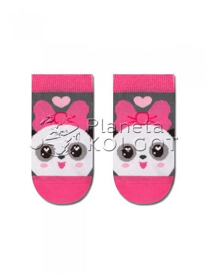"""Conte Kids МАЛЫШАРИКИ 16С-33СП 262 хлопковые носки для детей с принтом """"Пандочка"""""""