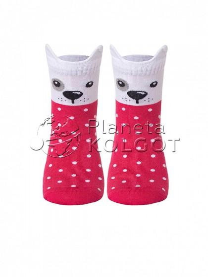 """Conte Kids Tip-Top 17С-59СП 318  детские носки для девочек и мальчиков с принтом """"Собачка"""""""