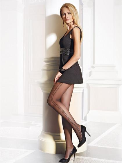 Conte Bliss женские тонкие колготки с фантазийным узором