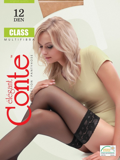 Conte Class 12 Den женские тончайшие классические чулки