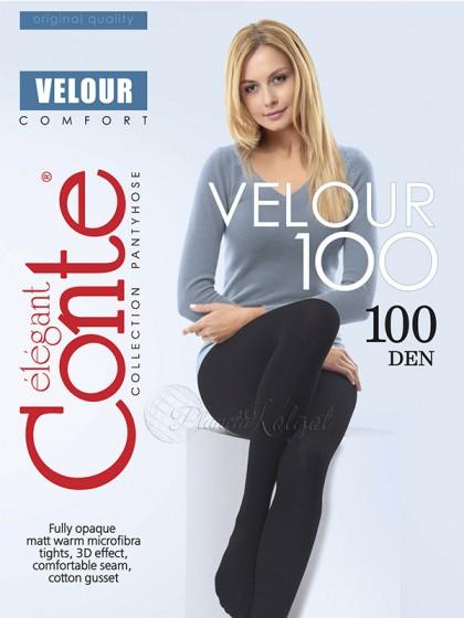 Conte Velour 100 Den женские зимние теплые колготки из микрофибры