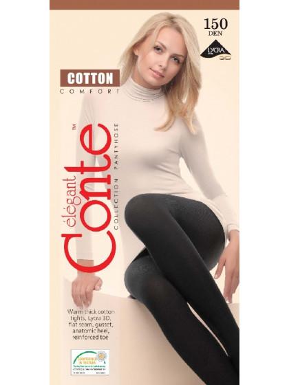 Conte Cotton 150 Den женские теплые хлопковые колготки