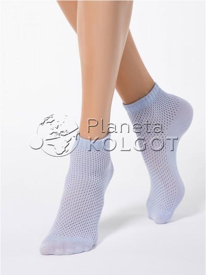 Conte Elegant Ajour 15С-81СП 077 женские ажурные носочки с добавлением люрекса (металлизированная нить/пряжа)