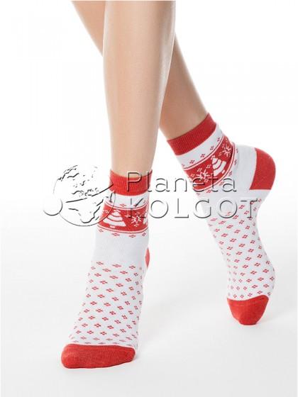 Conte Elegant Comfort 7С-47СП 080 женские классические хлопковые махровые носочки с рисунком