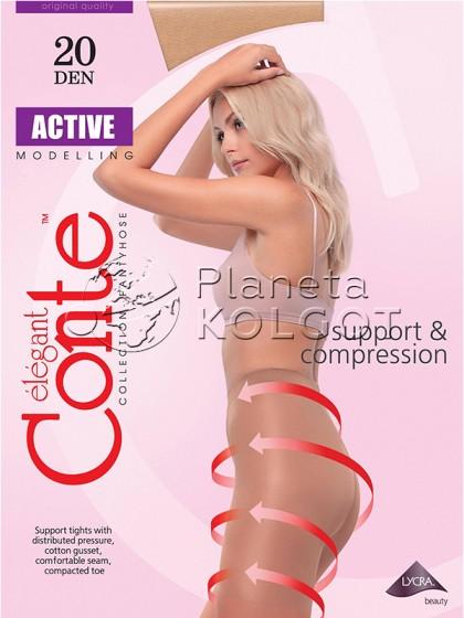 Conte Active 20 Den женские тонкие утягивающие колготки
