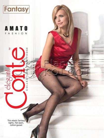 Conte Amato женские тонкие колготки с имитацией чулок