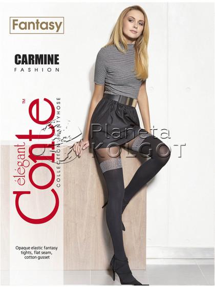 Conte Carmine 50 Den женские фантазийные колготки с имитацией чулок