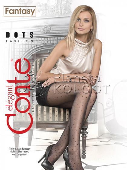 Conte Dots фантазийные тонкие колготки с узором