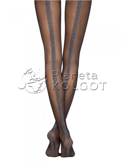 Conte Gloss женские стильные колготки с имитацией шва сзади