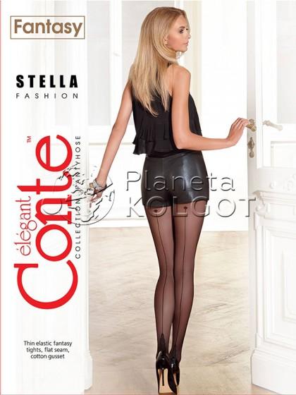 Conte Stella женские колготки с имитацией шва сзади
