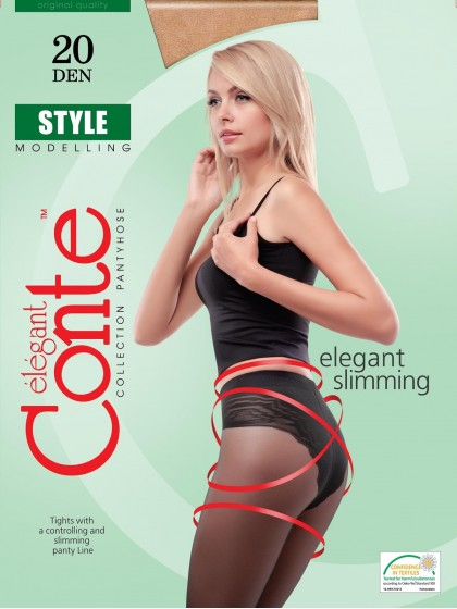 Conte Style 20 Den тонкие корректирующие колготки с трусиками-бикини