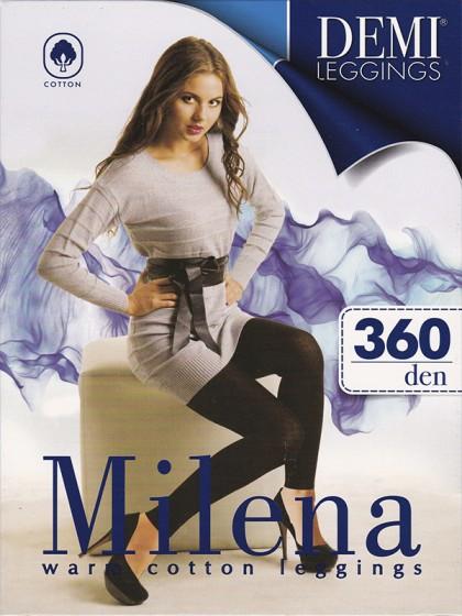 Demi Milena 360 Den женские плотные леггинсы (лосины) из высококачественного хлопка с манжетами