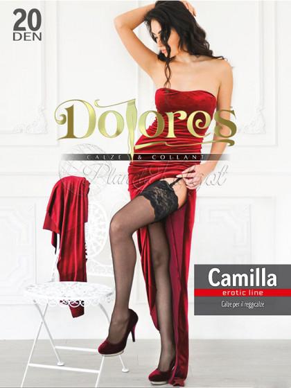 Dolores Camilla 20 Den Erotic Line женские тонкие чулки под пояс