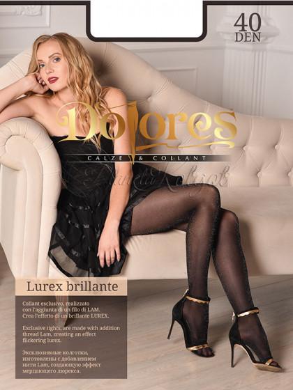 Dolores Lurex Brillante 40 Den женские фантазийные колготки с люрексом