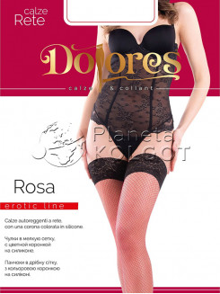 Dolores Rosa Rete Calze