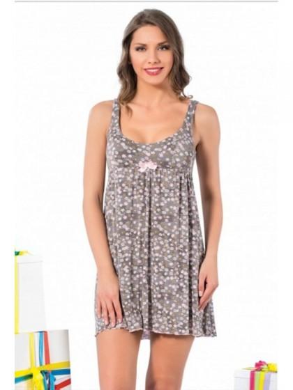 Elitol 11183 женская ночная хлопковая рубашка