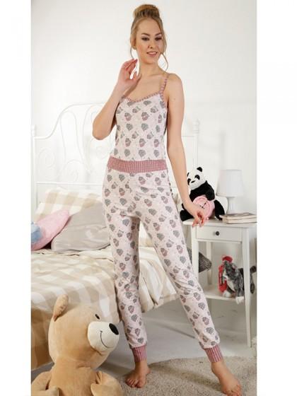 Elitol 17147 женская пижама из хлопка с рисунком