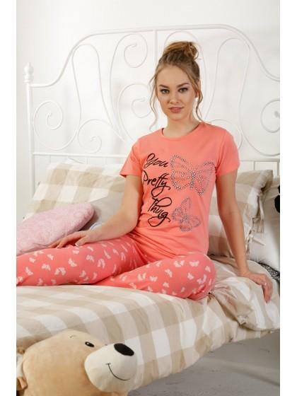 Elitol 17239 женская пижама из хлопка с рисунком