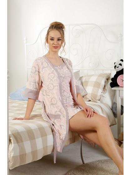 Elitol 17241 женский комплект (халат + сорочка)