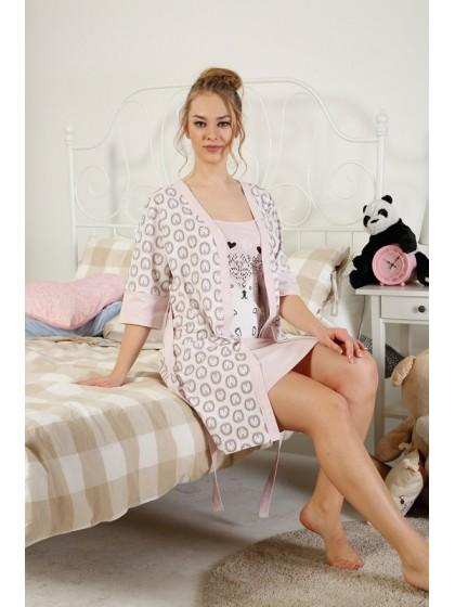 Elitol 17081 женский комплект (халат + сорочка)
