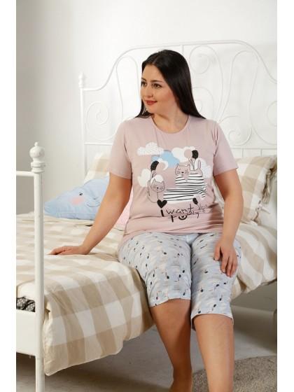 Elitol 17186B женская хлопковая пижама с рисунком