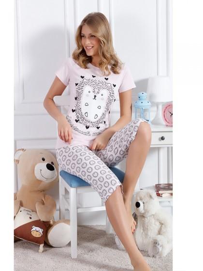 Elitol 17079 женская пижама из хлопка с рисунком