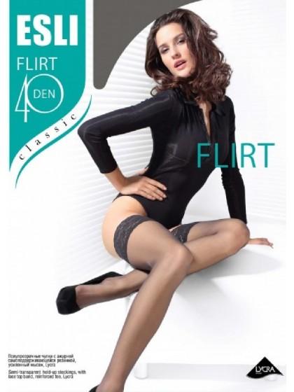 Esli Flirt 40 Den классические чулки средней плотности