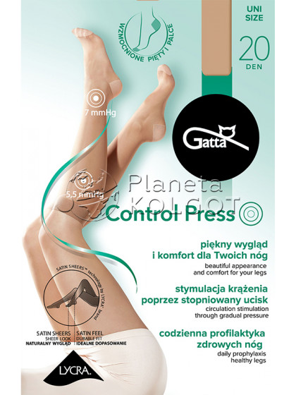 Gatta Control Press 20 Den женские тонкие гольфы